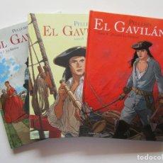 Cómics: EL GAVILAN 7 8 9 - PELLERIN - PONENT MON - TAPA DURA - MUY BIEN. Lote 194501772