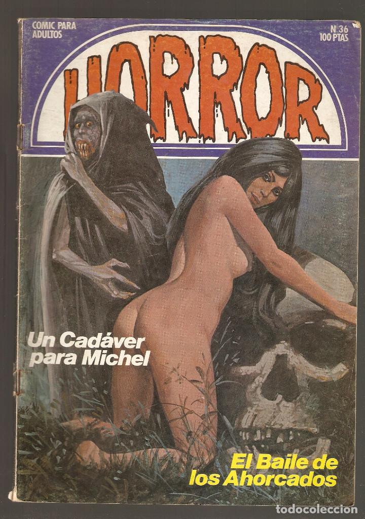 HORROR - Nº 36 - PRIMERA EDICION - RELATOS PARA ADULTOS - COMIC EROTICO - ED ZINCO S.A - (Tebeos y Comics Pendientes de Clasificar)