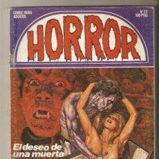 Cómics: HORROR - Nº 32 - PRIMERA EDICION - RELATOS PARA ADULTOS - COMIC EROTICO - ED ZINCO S.A -. Lote 194525193