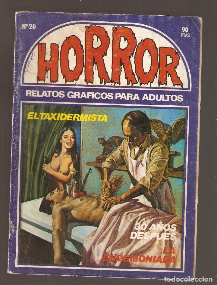 HORROR - Nº 20 - PRIMERA EDICION - RELATOS PARA ADULTOS - COMIC EROTICO - ED ZINCO S.A - (Tebeos y Comics Pendientes de Clasificar)