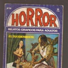 Cómics: HORROR - Nº 20 - PRIMERA EDICION - RELATOS PARA ADULTOS - COMIC EROTICO - ED ZINCO S.A -. Lote 194529043