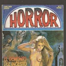 Cómics: HORROR - Nº 51 - PRIMERA EDICION - RELATOS PARA ADULTOS - COMIC EROTICO - ED ZINCO S.A -. Lote 194534558