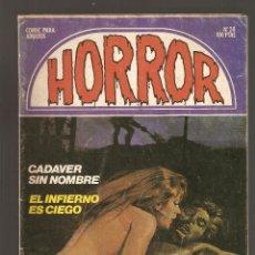 Cómics: HORROR - Nº 28 - PRIMERA EDICION - RELATOS PARA ADULTOS - COMIC EROTICO - ED ZINCO S.A -. Lote 194534862