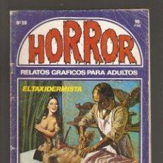 Cómics: HORROR - Nº 20 - PRIMERA EDICION - RELATOS PARA ADULTOS - COMIC EROTICO - ED ZINCO S.A -. Lote 194536878