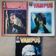Cómics: VAMPUS - NÚMEROS: 25 - 27 - 74 - AÑOS 70 - ED. IBERO MUNDIAL /// ED. GARBO - PJRB. Lote 194538868
