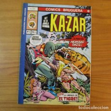 Cómics: COMICS BRUGUERA 20 KA-ZAR EL REY DE LA JUNGLA ESCONDIDA 3 LA AMENAZA DE EL TIGRE. MARVEL 1977. Lote 194555408