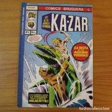 Cómics: COMICS BRUGUERA 29 KA-ZAR EL REY DE LA JUNGLA ESCONDIDA 6 LA BESTIA DE LAS AGUAS PERDIDAS. MARVEL 19. Lote 194555443