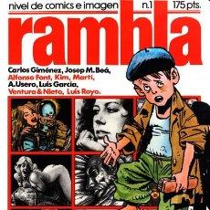 Cómics: RAMBLA - Nº 1 -NIVEL DE CÓMICS E IMAGEN-GIMÉNEZ.USERO-LUIS GARCÍA-BEÁ-1982-BUENO-DIFÍCIL-LEAN-3114. Lote 194612376