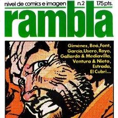 Cómics: RAMBLA -Nº 2 -NIVEL DEL CÓMIC E IMAGEN -1982-LUIS GARCÍA-GIMÉNEZ-BEÁ-USERO-BUENO-DIFÍCIL-LEAN-3115. Lote 194616296