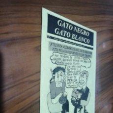 Cómics: GATO BLANCO GATO NEGRO 2. AUTOEDITADO. BUEN ESTADO. RARO. GRAPA.. Lote 194637367