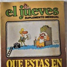 Cómics: EL JUEVES - AÑO 1979 - EDICIONES ZETA. Lote 194684025