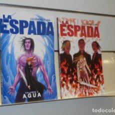 Cómics: LA ESPADA LOS HERMANOS LUNA 2 VOLUMENES VOL. 1 FUEGO Y VOL. 2 AGUA - ALETA - OFERTA . Lote 194715018