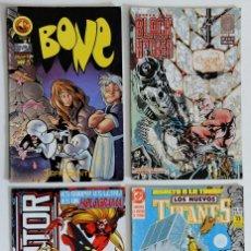 Cómics: 4 COMICS VARIADOS - EDITORIALES FORUM - MARVEL - DC - BRAVURA - FIRST COMICS - CLIFFHANGER-WILDSTORM. Lote 194742198