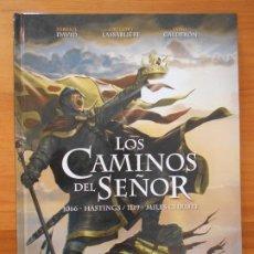 Cómics: LOS CAMINOS DEL SEÑOR 1 - 1066 HASTINGS / 1119 MILES CHRISTI - TAPA DURA - YERMO (IO). Lote 194770248
