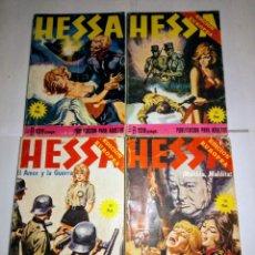 Cómics: HESSA. 4 NUMEROS. 1976. PUBLICACION PARA ADULTOS.. Lote 194957353