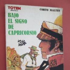 Cómics: CORTO MALTES , BAJO EL SIGNO DE CAPRICORNIO , TOTEM BIBLIOTECA 1980. Lote 194975528