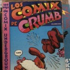 Cómics: LOS COMIX DE CRUMB VOLUMEN DOS (PASTANAGA, 1978) 160 PÁGINAS. Lote 194991901