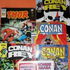 Cómics: LOTE. SEIS COMICS. CONAN. CONAN REY. THOR. SPIDERMAN. VARIAS EDITORIALES. . Lote 195077316