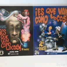 Cómics: ¡ES QUE VAN COMO LOCOS! 1 Y 2 DE VENTURA Y NIETO. PAPEL VIVO. EDICIONES DE LA TORRE.. Lote 195126990