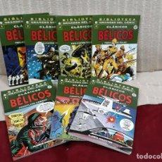 Cómics: BIBLIOTECA GRANDES DEL COMIC - CLÁSICOS BÉLICOS (7 TOMOS) - COMPLETA !! - EXCELENTE ESTADO. Lote 195090113