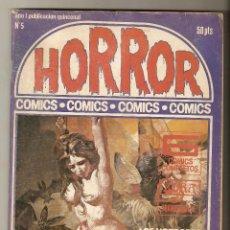Cómics: HORROR - Nº 5 - PRIMERA EDICION - RELATOS PARA ADULTOS - COMIC EROTICO - ED ZINCO S.A -. Lote 195240006
