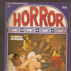 Cómics: HORROR - Nº 6 - PRIMERA EDICION - RELATOS PARA ADULTOS - COMIC EROTICO - ED ZINCO S.A -. Lote 195240196