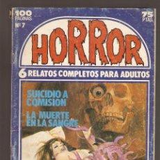 Cómics: HORROR - Nº 7 - PRIMERA EDICION - RELATOS PARA ADULTOS - COMIC EROTICO - ED ZINCO S.A -. Lote 195240495