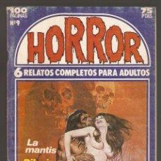 Cómics: HORROR - Nº 9 - PRIMERA EDICION - RELATOS PARA ADULTOS - COMIC EROTICO - ED ZINCO S.A -. Lote 195240775