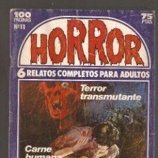 Cómics: HORROR - Nº 11 - PRIMERA EDICION - RELATOS PARA ADULTOS - COMIC EROTICO - ED ZINCO S.A -. Lote 195241053