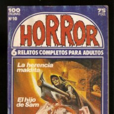 Cómics: HORROR - Nº 10 - PRIMERA EDICION - RELATOS PARA ADULTOS - COMIC EROTICO - ED ZINCO S.A -. Lote 195241443