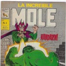 Cómics: LA INCREIBLE MOLE - AÑO I - Nº 6 - JULIO 31 DE 1969 *** EDITORIAL LA PRENSA MÉXICO ***. Lote 195264951
