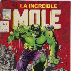 Cómics: LA INCREIBLE MOLE - AÑO I - Nº 4 - MAYO 31 DE 1969 *** EDITORIAL LA PRENSA MÉXICO ***. Lote 195265071