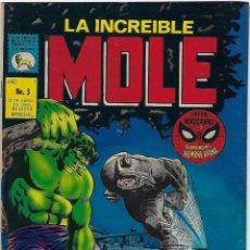 Cómics: LA INCREIBLE MOLE - AÑO I - Nº 3 - ABRIL 30 DE 1969 *** EDITORIAL LA PRENSA MÉXICO ***. Lote 195265118
