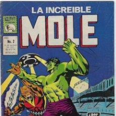 Cómics: LA INCREIBLE MOLE - AÑO I - Nº 2 - MARZO 31 DE 1969 *** EDITORIAL LA PRENSA MÉXICO ***. Lote 195265178