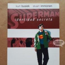 Cómics: SUPERMAN - IDENTIDAD SECRETA - KURT BUSIEK Y STUART IMMONEN - ECC - RÚSTICA - JMV. Lote 195285195