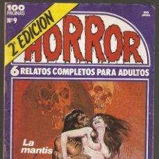 Cómics: HORROR - Nº 9 - SEGUNDA EDICION - RELATOS PARA ADULTOS - COMIC EROTICO - ED ZINCO S.A -. Lote 195337941