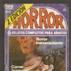 Cómics: HORROR - Nº 11 - SEGUNDA EDICION - RELATOS PARA ADULTOS - COMIC EROTICO - ED ZINCO S.A -. Lote 195338127