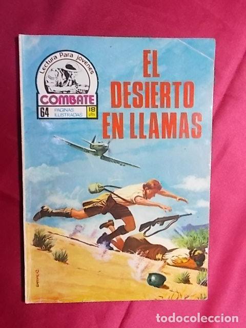 COMBATE. Nº 106. EL DESIERTO EN LLAMAS. PRODUCCIONES EDITORIALES (Tebeos y Comics Pendientes de Clasificar)