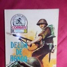 Cómics: COMBATE. Nº 35. DEUDA DE HONOR. PRODUCCIONES EDITORIALES. Lote 195343283