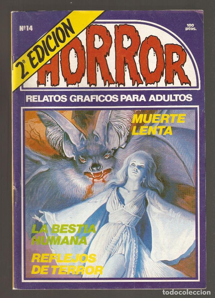 HORROR - Nº 14 - SEGUNDA EDICION - RELATOS PARA ADULTOS - COMIC EROTICO - ED ZINCO S.A - (Tebeos y Comics Pendientes de Clasificar)