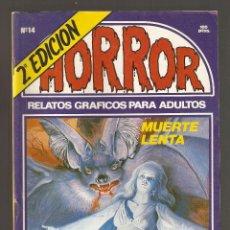 Cómics: HORROR - Nº 14 - SEGUNDA EDICION - RELATOS PARA ADULTOS - COMIC EROTICO - ED ZINCO S.A -. Lote 195388975