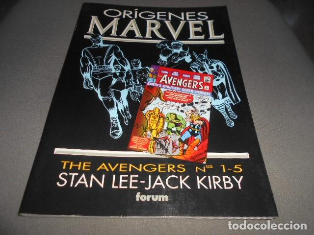 FORUM - ORIGENES MARVEL - STAN LEE - JACK KIRBY - THE AVENGERS N 1-5 (Tebeos y Comics Pendientes de Clasificar)