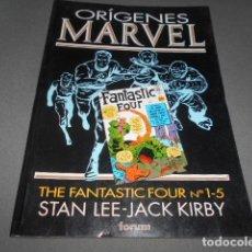 Cómics: FORUM - ORIGENES MARVEL - STAN LEE - JACK KIRBY - THE FANTASTIC FOUR N 1-5. Lote 195391247