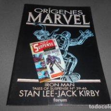 Cómics: FORUM - ORIGENES MARVEL - STAN LEE - JACK KIRBY - IRON MAN - TALES OF SUSPENSE N 39 - 46. Lote 195391273