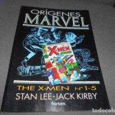 Cómics: FORUM - ORIGENES MARVEL - STAN LEE - JACK KIRBY - THE X-MEN N 1 -5. Lote 195391335