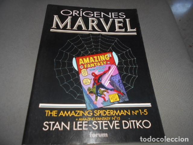 FORUM - ORIGENES MARVEL - STAN LEE - JACK KIRBY - THE AMAZING SPIDERMAN N 1- 5 (Tebeos y Comics Pendientes de Clasificar)