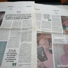 Cómics: FORGES. ENTREVSITA EN EL PERIÓDICO TRIBUNA. DICIEMBRE DE 2006. DOS PÁGINAS. BUEN ESTADO. DIFICIL. Lote 195433046