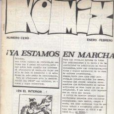 Cómics: KOMIX - PERIODICO DE NOTICIAS SOBRE LA HISTORIETA GRAFICA - ENERO - FEBRERO - NUMERO CERO. Lote 195482545