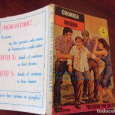 Cómics: CRONICA NEGRA - LA FASCINACION DE LA VIOLENCIA - FORMATO TACO - EDITA MERCOCOMIC. Lote 195506355