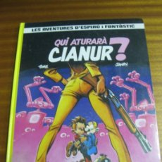 Cómics: QUI ATURARA CIANUR?. LES AVENTURES D'ESPIRU I FANTASTIC, Nº 21. EDICIONES JUNIOR 1989. Lote 195511261